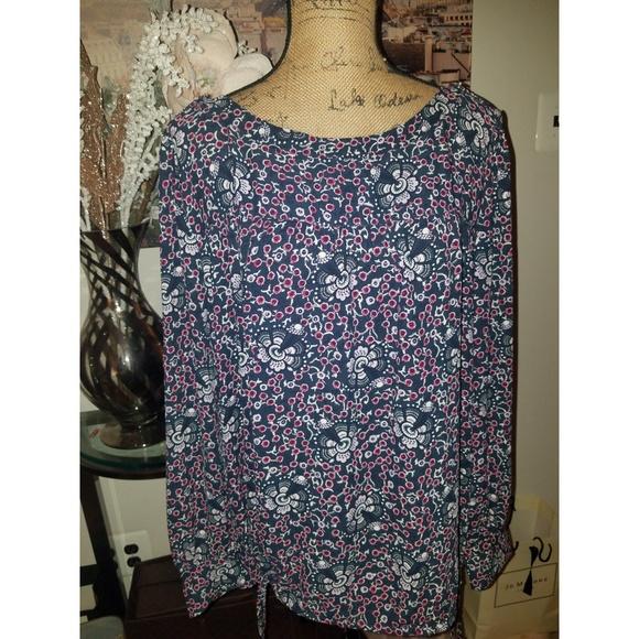 LOFT Tops - Loft Floral Print Blouse sz xl